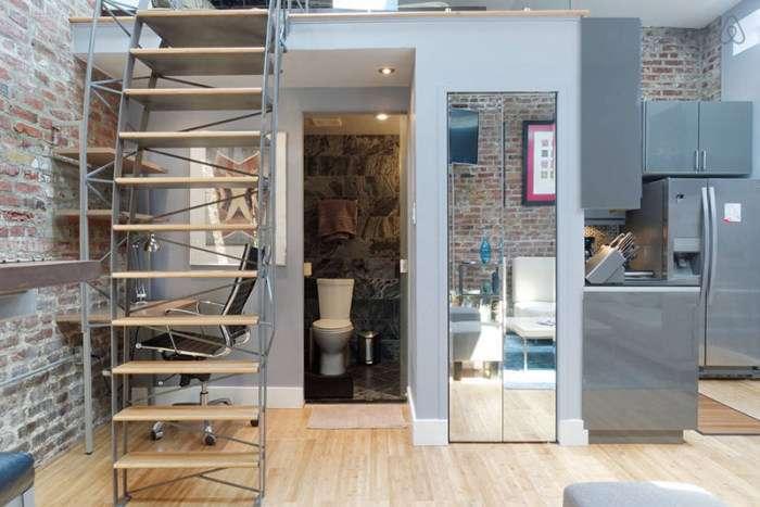 Відмінна малогабаритна квартира в приміщенні колишнього складу (22 фото)