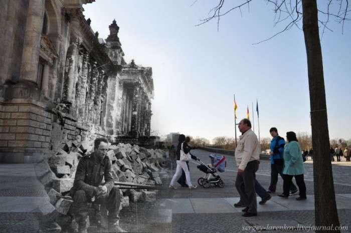 Фотореконструкция: Берлін у повоєнні роки і в наші дні (50 фото)