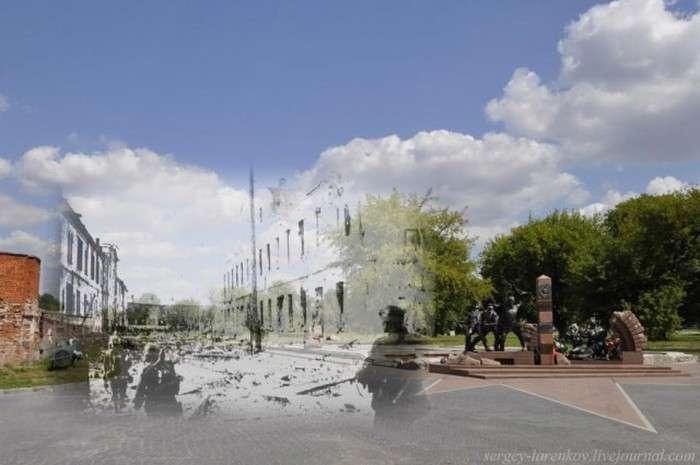 Суміщені військові і сучасні знімки Брестської фортеці (27 фото)