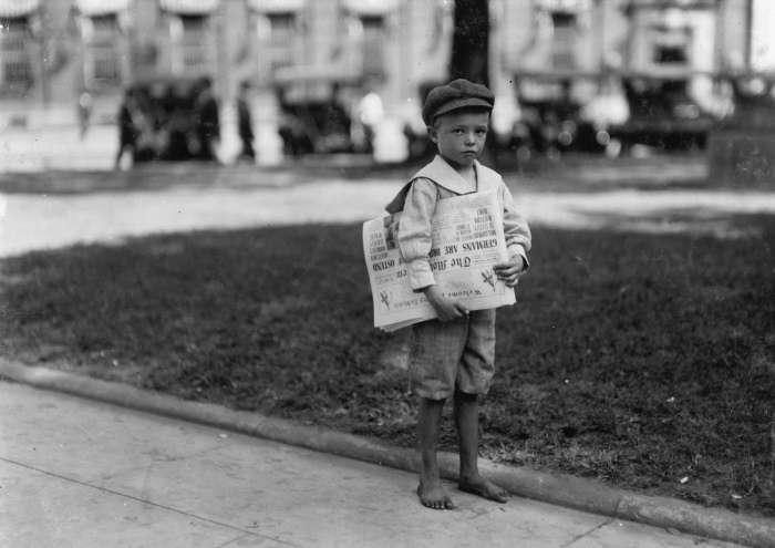 Працюють американські діти початку XX століття (27 фото)