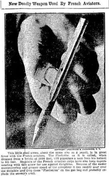 Флешетта - маловідоме зброю часів Першої світової війни (10 фото)