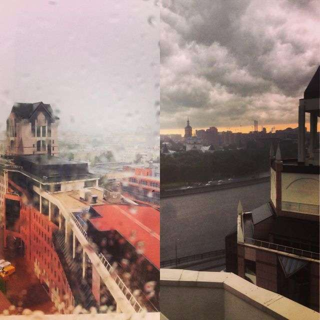 Злива та гроза обрушилися на Москву (18 фото)