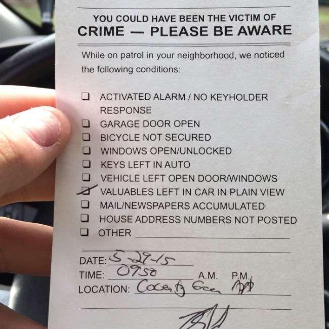 Профілактика вчинення злочину від американських поліцейських (2 фото)