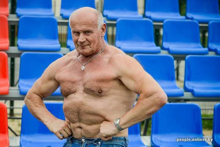 Михайло Вербицький - найсильніший «дід» у світі (14 фото + відео)
