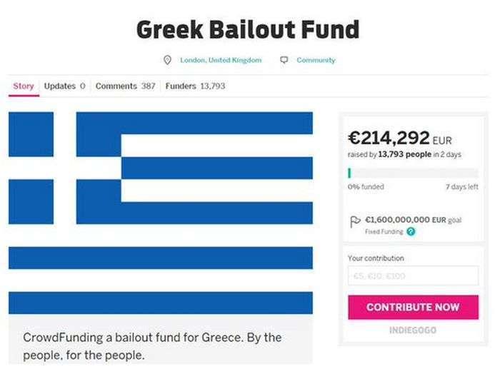 Продавець взуття з Лондона збирає кошти для порятунку Греції від дефолту (2 фото)