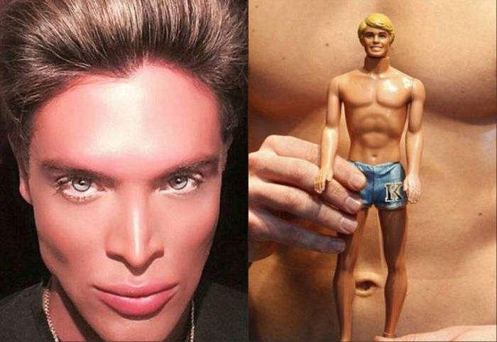 Маурісіо Гальди, «людський двійник ляльки Кена», переніс 8 пластичних операцій (19 фото)