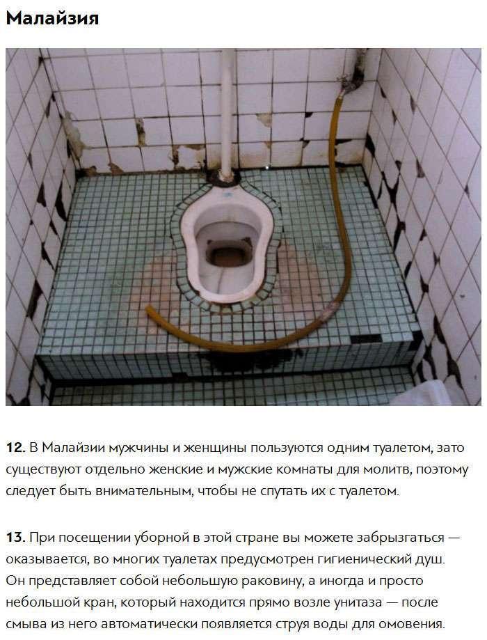 Туалетні «традиції» різних країн світу (9 фото)