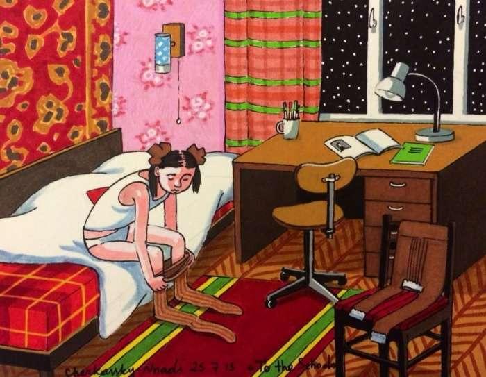 Наше дитинство в малюнках художниці Зої Черкаській (15 картинок)