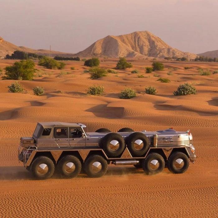 Dhabiyan: 10-колесный корабль пустыни, построенный для шейха авто,мото,техника, Авто и мото