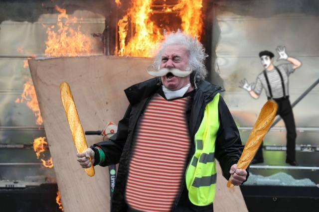 Фотожабы»орущий мужчина с протестов жёлтых жилетов во Франции» юмор, приколы,, Юмор