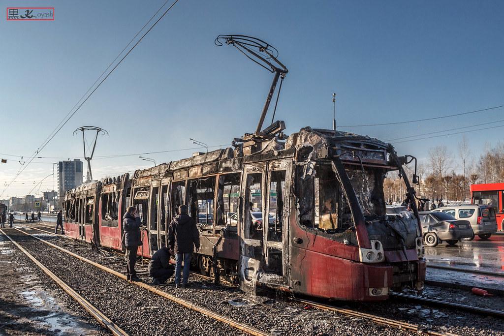 Весна – время горящих трамваев! трамвай