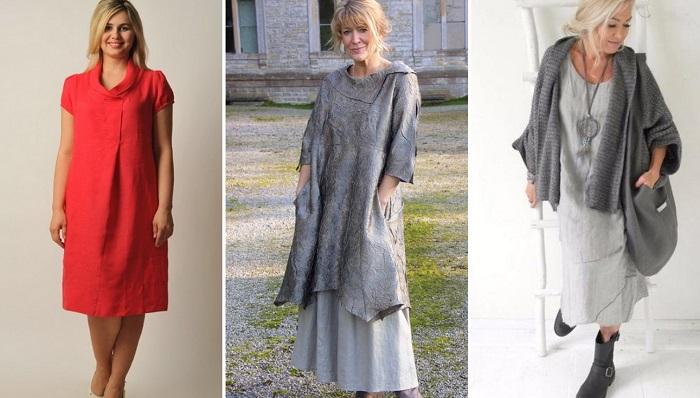 Подборка стильных льняных платьев Вдохновение