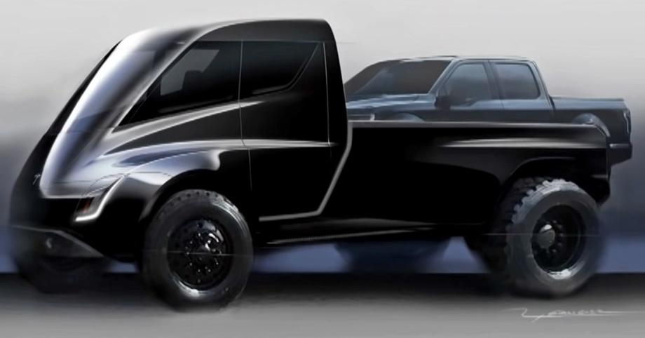 Илон Маск отнёс модель Tesla Pickup к киберпанку авто,мото,техника, Авто и мото