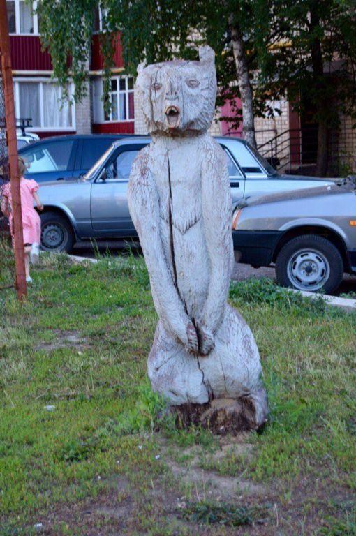Образ медведя в советской и российской уличной скульптуре юмор, приколы,, Юмор