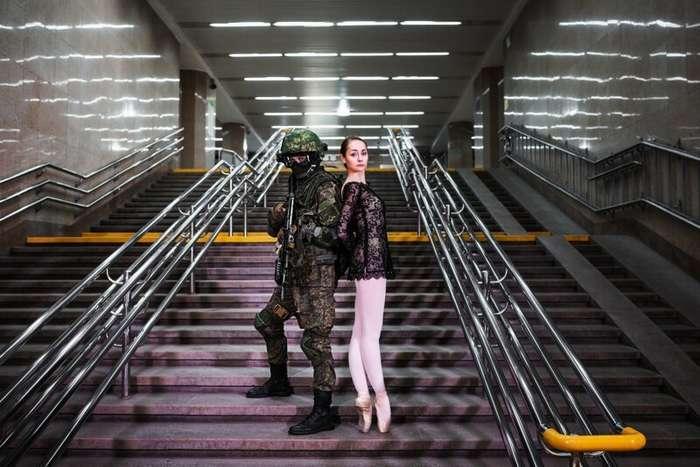 Уральские военные устроили фотосессию с балеринами   Интересное
