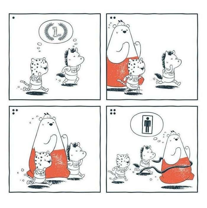 Забавные комиксы без слов с неожиданным, а иногда и мрачным финалом   Интересное