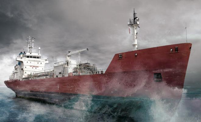 Супертанкер встретил огромную блуждающую волну в океане Культура