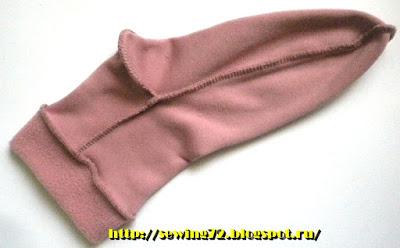 Носки из флиса: мастер-класс женские хобби