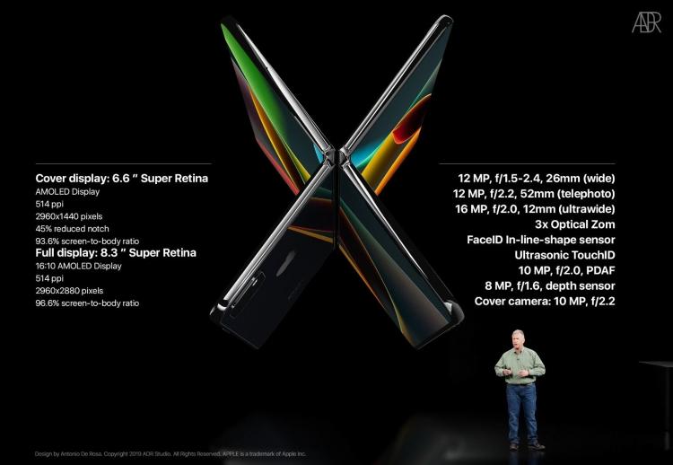 Складной iPhone X Fold глазами дизайнера новости