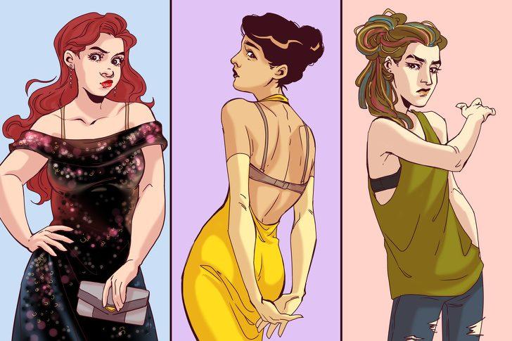 Комиксы о том, как трудно быть девочкой. Немного юмора