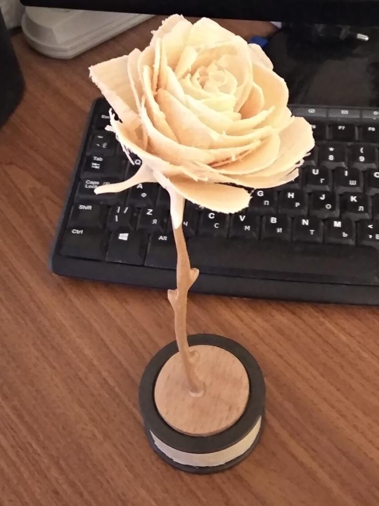 Было скучно – сделал цветок дерево
