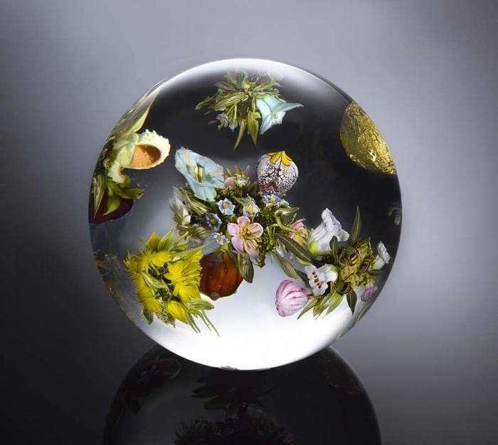 Кусочек природы в стекле. Так необычно! handmake
