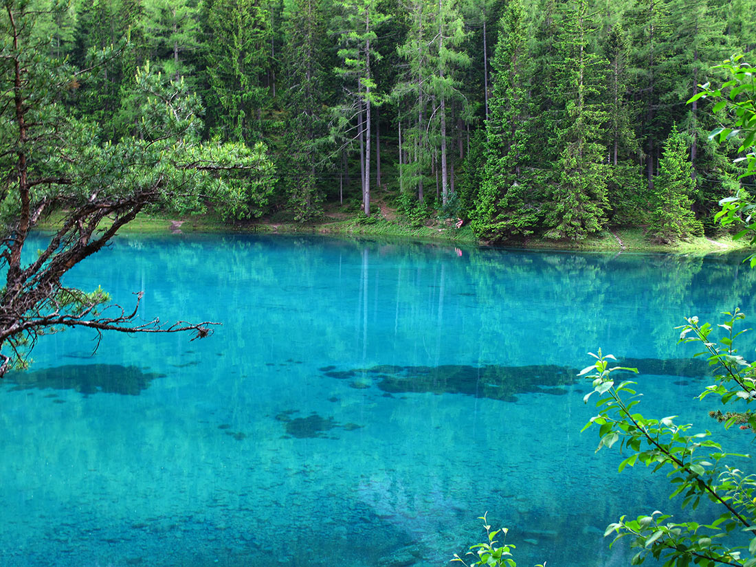 Грюнер-Зе: волшебное горное озеро, воды которого скрывают настоящий парк Австрия