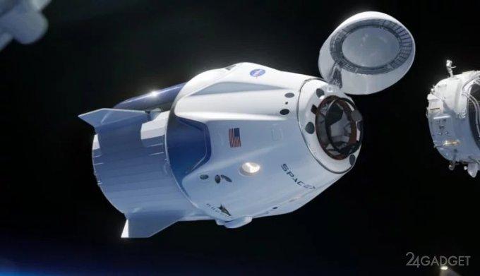 Crew Dragon запустил сигнал тревоги и состыковался с МКС Crew Dragon